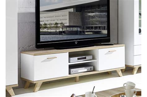 meuble tv design blanc et ch 234 ne sonoma trendymobilier