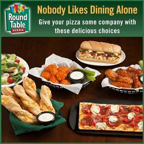 nobody likes dining alone picture of table pizza