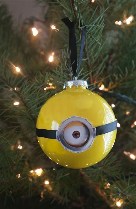 minion christmas decorations diy minion ornaments for despicable me 3 dvd