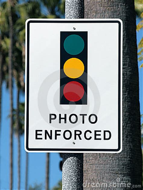 light photo enforced photo enforced traffic light sign stock photo image