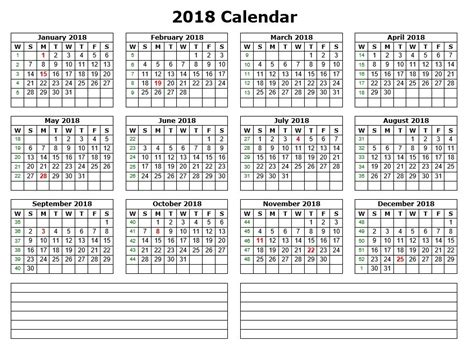 printable calendar 2018 with notes 10 free sle printable calendar templates for 2018