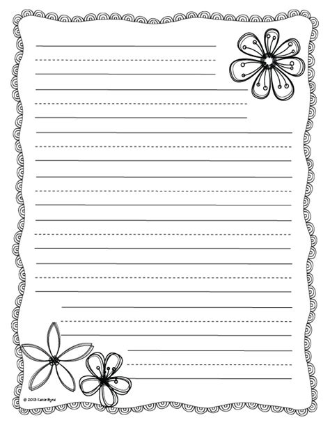 printable lined paper for mother s day flower writing paper template search results calendar 2015