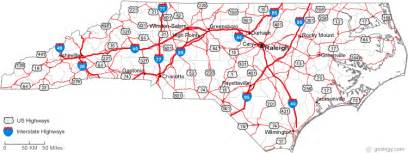 carolina county map with roads webquest