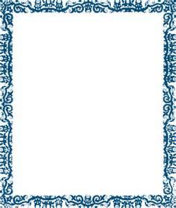 blue vector border design page designs cool frame clip art clker online