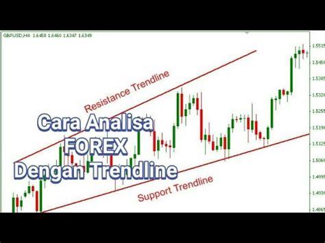 tutorial cara trading forex cara analisa trading forex dengan trendline tutorial