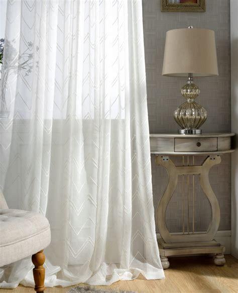 soft white curtains white chevron sheer curtains custom made to order upto