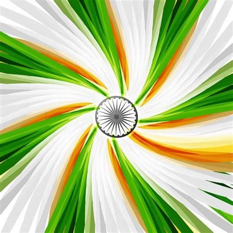 colors by india tricolor swirl in indian flag colors vector free download