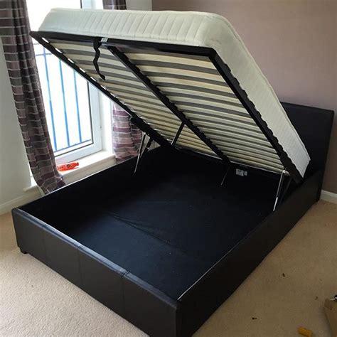 Hygena Ottoman Bed Assembly Flat Pack Dan