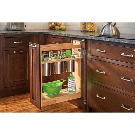 kitchen utensils storage cabinet rev a shelf 25 5 in h x 8 in w x 21 625 in d pull out