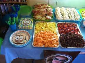 Octonauts Decorations Owl Birthday Party Food I Like The Mini Pizzas And Shaped