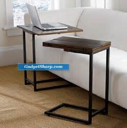 slide sofa table convenient slide sofa tables gadget sharp