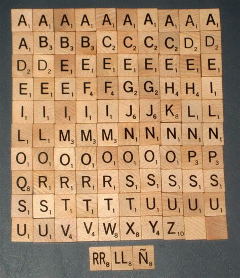 un in scrabble sold 103 wood scrabble replacement tiles