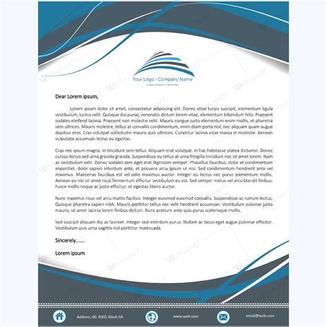letterhead template word layouts