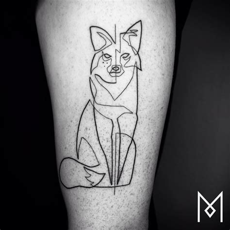 line drawing tattoos one continuous line tattoos by iranian german artist mo