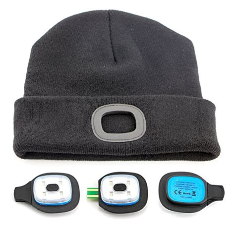 beanie hat with led light rechargeable led beanie hat lighted winter hat mission