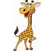 Desenhos Animados De Sorriso Do Girafa Foto Stock