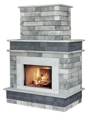 Unilock Permeable Pavers Moda Outdoor Fireplace Superior Stone Amp Fireplace