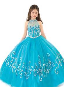 blue puffy dresses for kids images