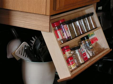 under cabinet spice storage under cabinet spice rack by woodenyoulovethis on etsy