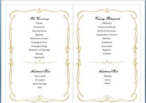wedding program template microsoft word free ms word family wedding program template formal word