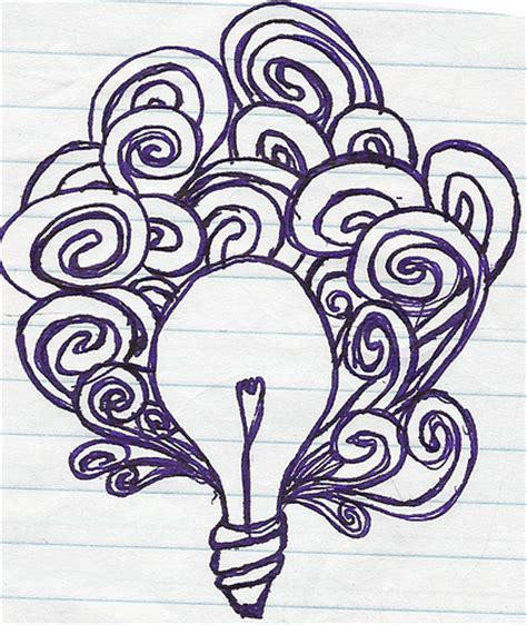 basic doodle drawings lightbulb doodle and midnight spaghetti
