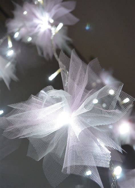 diy tulle flower fairy lights trusper
