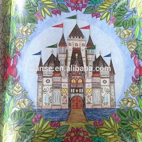 enchanted forest colored 16 best enchanted forest colorbook images on