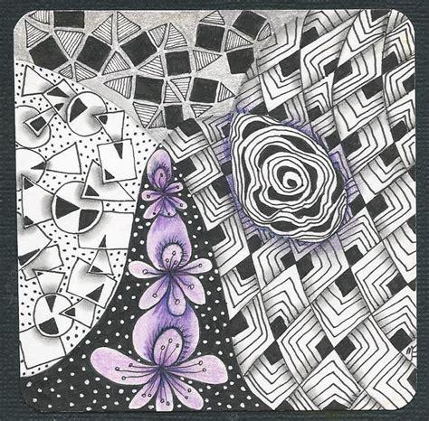 zentangle pattern diva dance thehappytangler december 2013