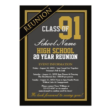 high school reunion invitation template formal high school reunion 5x7 paper invitation