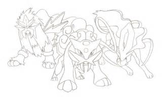 Legendary Pokemon Coloring Pages Dogs Sketch Page sketch template