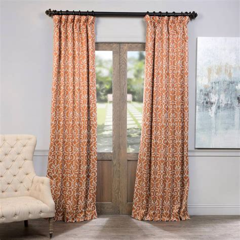 rust drapes exclusive fabrics furnishings semi opaque nouveau rust