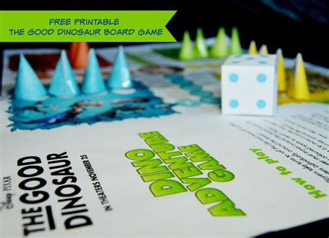 printable adventure board games free printable the good dinosaur board game