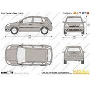 The Blueprintscom  Vector Drawing Ford Fiesta 5 Door