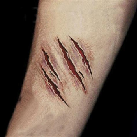 horror stitch wound water proof temporary scar tattoo