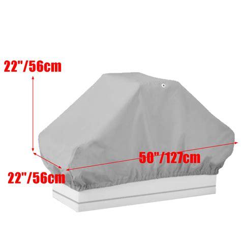 waterproof boat seat covers 50inx 22inx 22in grey waterproof boat pontoon back to back