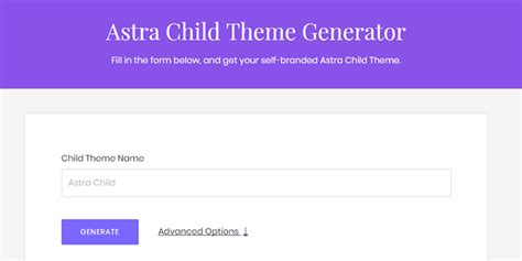 wordpress theme generator online free how to create child theme for astra wordpress theme