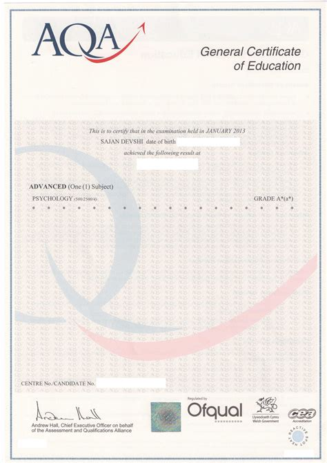 gcse certificate template certificate results card template search results