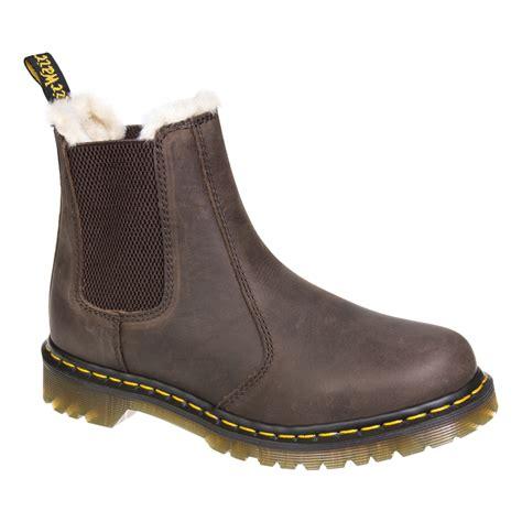 dr martens brown leonore chelsea boots dm footwear uk