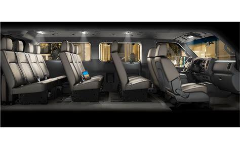 nissan van interior nissan launches 12 passenger version of nv3500 hd van