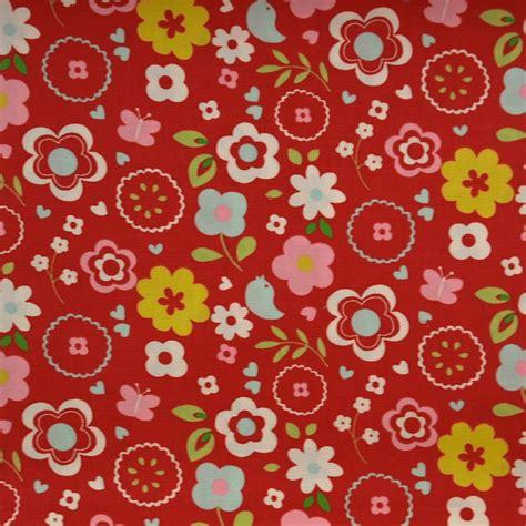 Retro Fabric by Retro Floral Fabric Multi F0298 03 Clarke Clarke