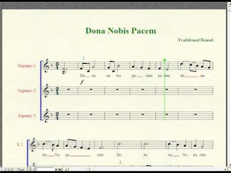 what is a section in music dona nobis pacem 3 part round european song music