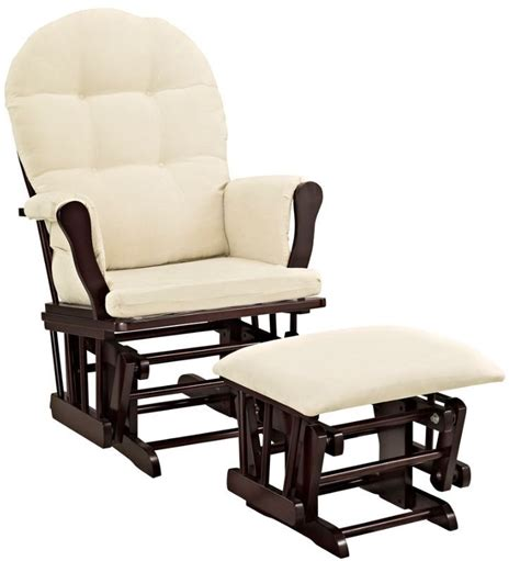 Espresso Rocking Chair Nursery Glider Ottoman Combo Rocker Nursery Set Espresso Baby Chair Sofa Crib Dresser Rockers Gliders