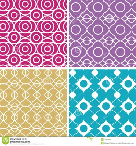 pattern color scheme colorful abstract lineart geometric seamless stock vector
