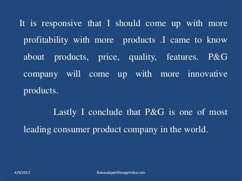 Procter And Gamble Indiana Mba Linkedin by Procter Gamble Marketing Strtergy Mba Ppt Of Marketing