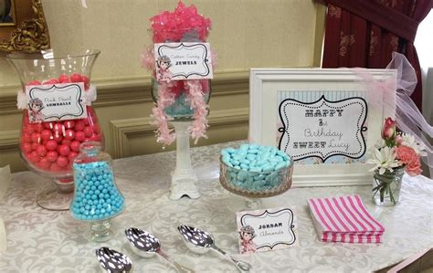 maryland pink and green vintage pink and blue candy buffet