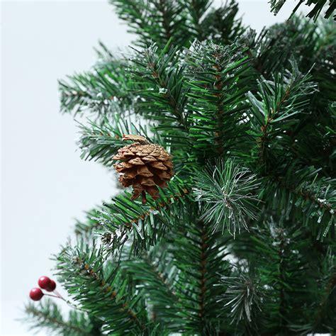 snow needle pine tree 7ft artificial pine needles snow pine cone berry