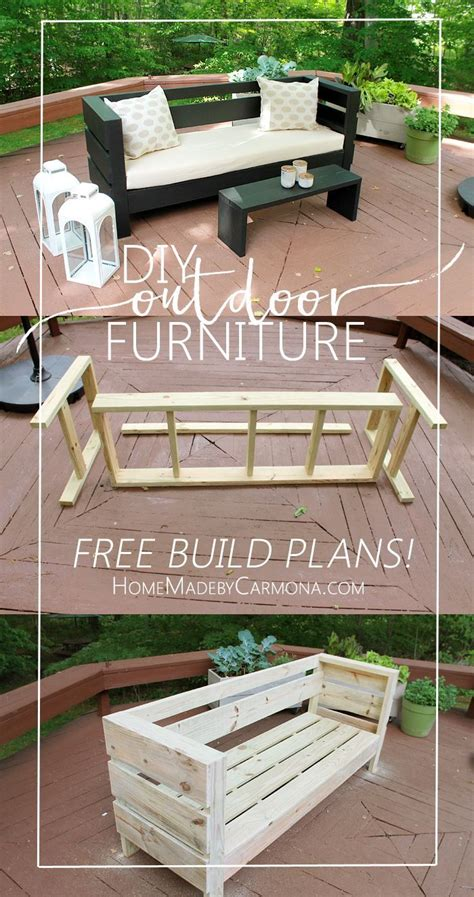 free patio furniture plans 25 best ideas about diy outdoor furniture on