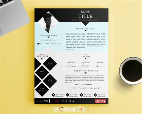 band press kit template one page media kit template press kit template by bloggerkitco