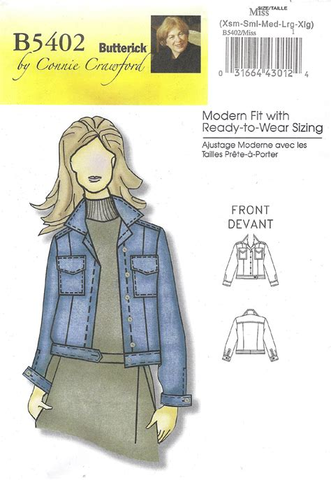 sewing pattern jeans jacket butterick 5402 pattern review by sandysewin