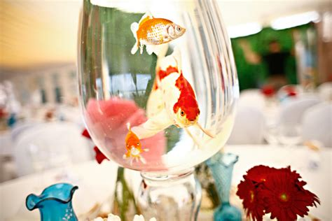fish bowl centerpieces for weddings wedding decorations